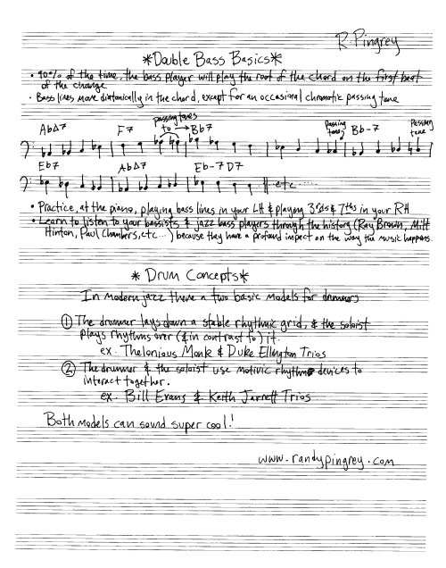 jazz piano | Randy Pingrey: trombonist-at-large